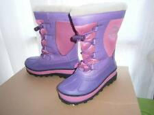 UGG BOBBEY Snow Winter PINK & PURPLE Rain BOOTS BIG Kids YOUTH US sz 13