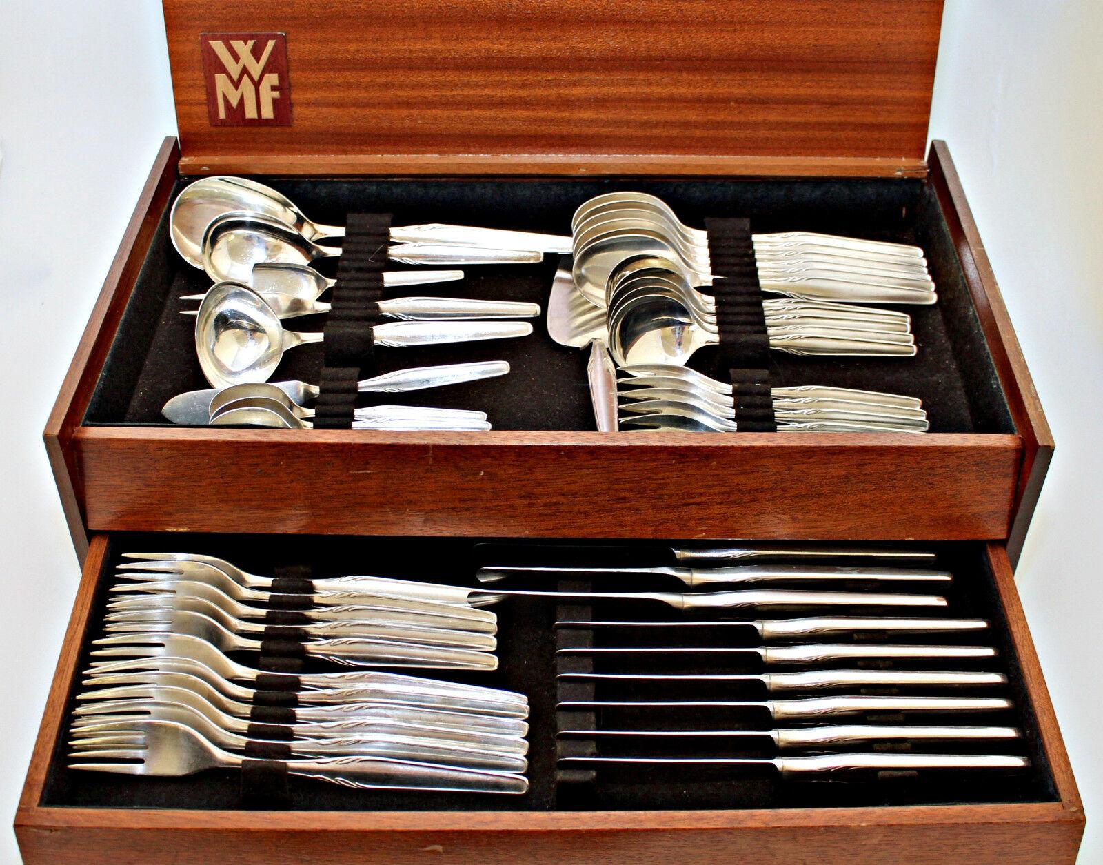 Wmf couverts 90 il ARGENT  paris  50 pièces couverts encadré Couteau Fourchette Cuillère