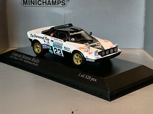 RALLY-1-43-MINICHAMPS-LANCIA-STRATOS-HF-CHEQUERED-FLAG-UK-LOMBARD-76-WALFRIDSON