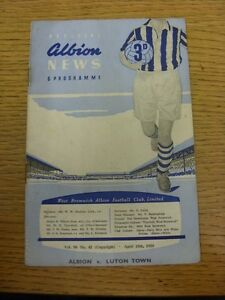 15-04-1959-West-Bromwich-Albion-v-Luton-Town-Very-Heavy-Creased-Folded-Worn