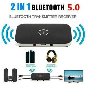 2 in 1 Bluetooth Wireless Audio Transmitter Receiver HiFi Music Adapter AUX RCA