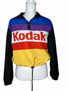 KODAK COLORBLOCK Pullover Windbreaker Jacket Womens Size Small