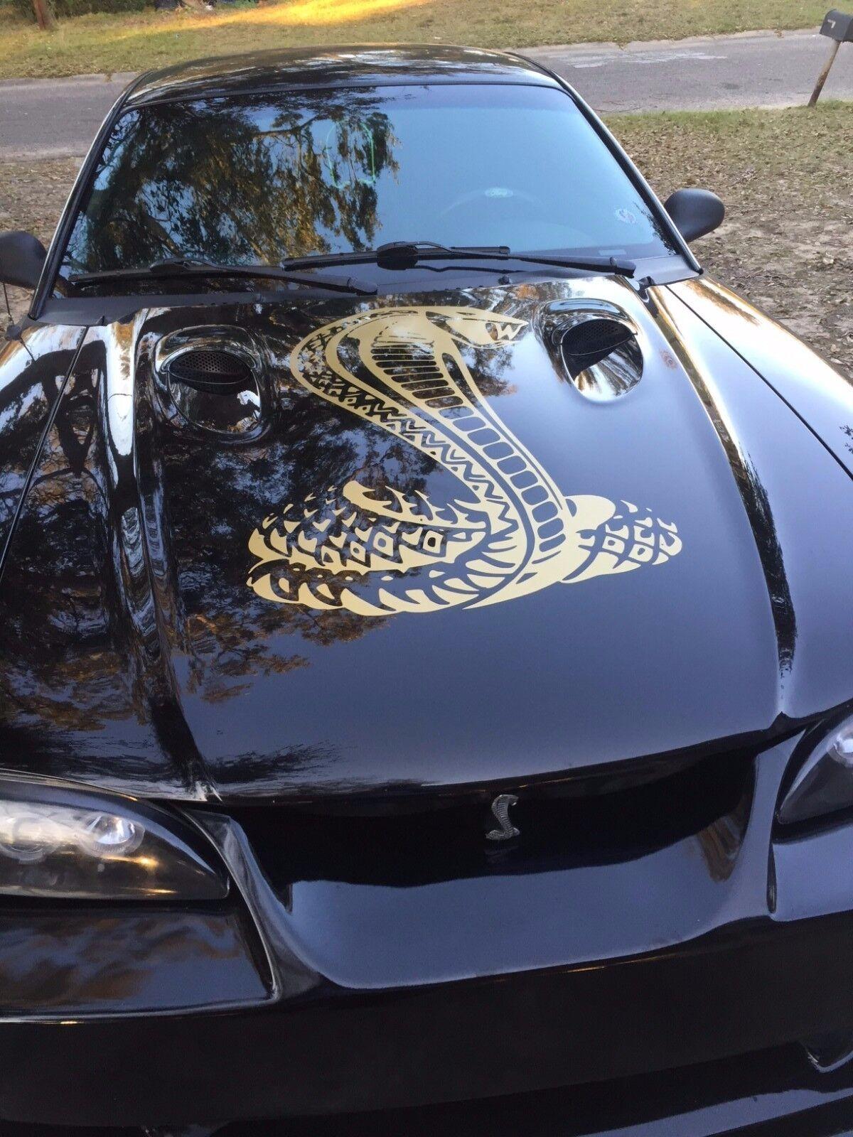 Hellhorse Black Ford Race Car Cobra GT V8 V6 Mustang Vinyl Decal Sticker