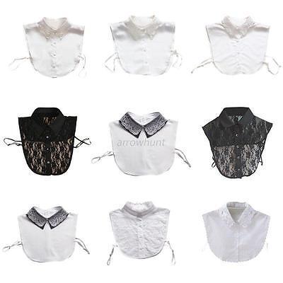 Detachable Lace Hollow Fake Lapel Blouse Collar Necklace Removable Choker New