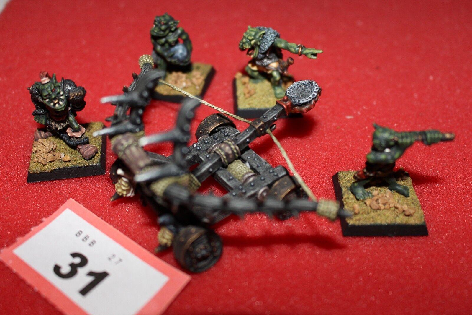 Games Workshop Citadel MD5 orcos hombre Mangler Mangonel Pro Pintado Metal Combi