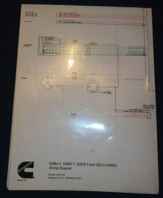 Cummins Engine Qsc8 3 Qsl9 Cm850 Engine Wiring Diagram