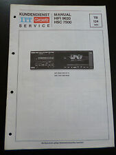 Original Service Manual   ITT Graetz  Hifi 9620 HSC 7500