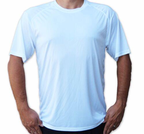 Men/'s UPF 50 T-Shirt Fishing Boat Sport UV Protection Performance White