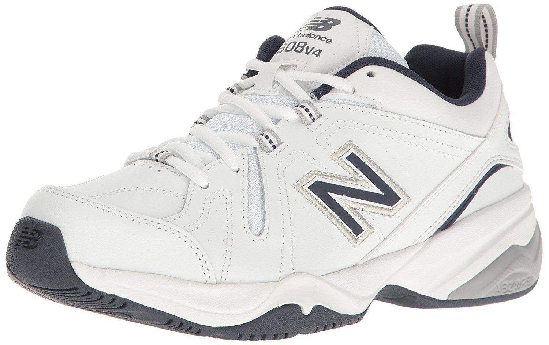 New Balance Homme MX608v4 Training Chaussures, Blanc/Navy,