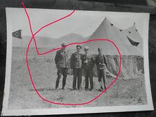 original  Foto Griechenland LW Offiziere mit Staffel Wappen  JG  53 Pik Ass