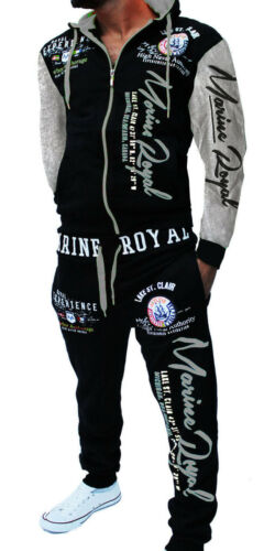 Mens Jogging Suit Jogging Trousers Jacket Tracksuit Sports Pants Fitness New A Navy