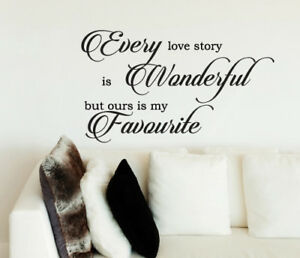 Our Love Story Is My Favourite Wall Sticker Home Quotes