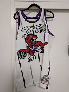 170e3176b Mitchell   Ness Tracy McGrady 1998-99 Toronto Raptors Home Jersey ...