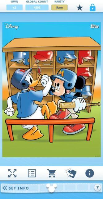 Topps Disney Collect Mickey & Friends Play Ball Series 1 Set + Award