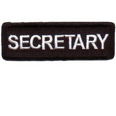 Secretary Patch Badge Emblem for Biker motorcycle Club Officer Leather vest New