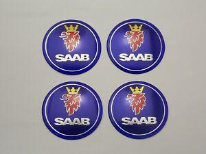 65mm 4PCS Metal Wheel Center Hub Cap Stickers Emblems Fit SAAB