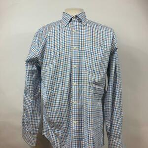 Peter-Millar-Multi-Plaid-Nanoluxe-Cotton-Button-Down-Shirt-LS-Mens-Size-Large