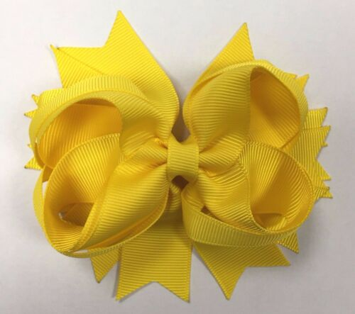 """Size 4/"""" 9 Colours Boutique Stacked Hair Bows Multi Layered"""