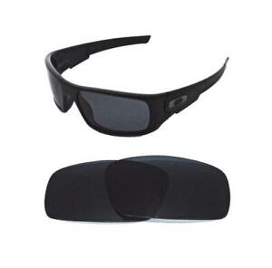 19f5fec887 Image is loading NEW-POLARIZED-REPLACEMENT-BLACK-LENS-FOR-OAKLEY-CRANKSHAFT-