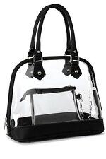 Clear PVC Handbag Women Bag Satchel Top Handle Purse Beach Wallet Travel Durable