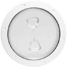 """New Pry-out Deck Plate beckson Marine Dp81-w 7-5//8/"""" ID 10/"""" OD 8-3//8/"""" White Cente"""