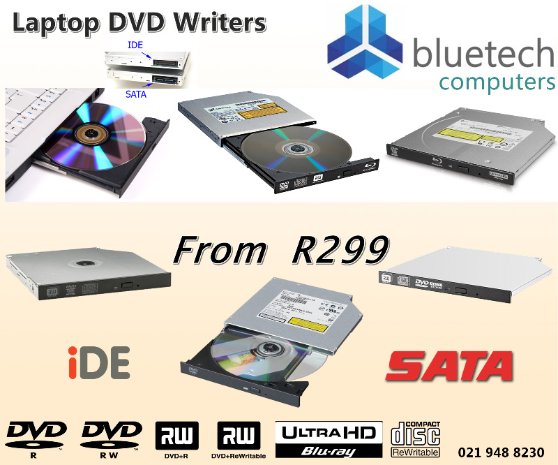 Samsung Laptop Internal DVD writers / burners, Bluetech Computers 021 948 8230.