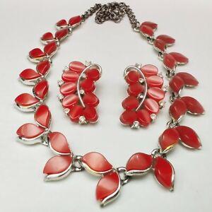 Necklace Bracelet and Earrings Vintage Lisner Sky Blue Thermoset Rhinestone Parure