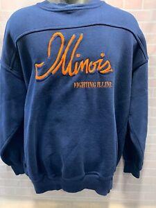Vintage-ILLINOIS-Fighting-ILLINI-Sweat-Shirt-Size-L