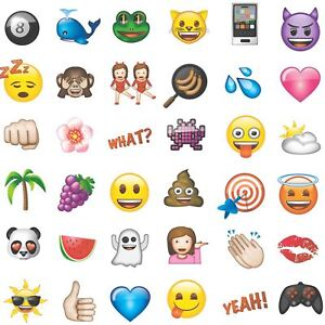 Details About Emoji Emoticons Wallpaper White Wp4 Emo Gen 12 Boys Girls