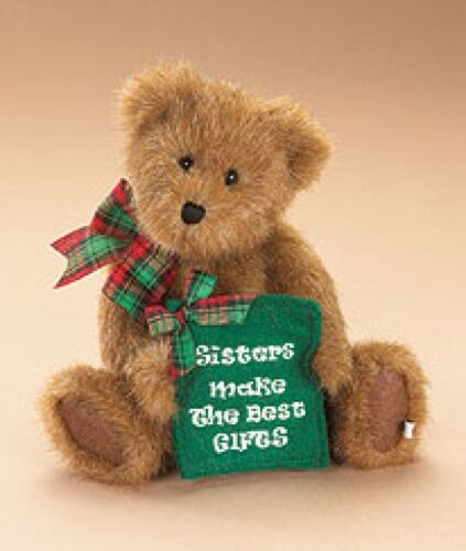 """BEST 8.5/"""" PLUSH BEAR /""""SISTERS MAKE THE BEST GIFTS/"""" BOYDS #914452 SISSY D"""
