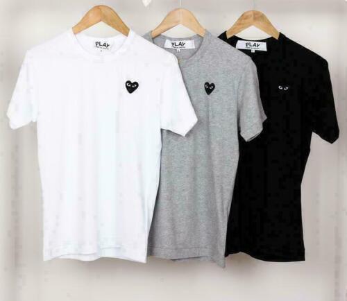 Hot NEW 100/% cotton Play Littel Black Heart Short Sleeve Tee 4 colour T-Shirts