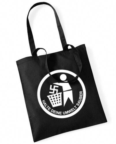 HALTE DEINE UMWELT SAUBER Cotton Bag Stoffbeutel schwarz