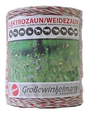 100% Wahr Growi Superline Litze 2 X 500 M *2er Pack* Stromleiter Weidezaunband Elektrozaun Spezieller Kauf