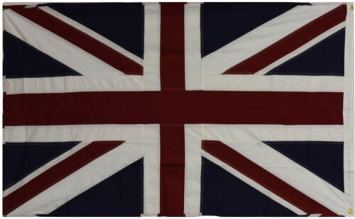 3x5 UK United Kingdom Embroidered Sewn Cotton Flags 100/% USA Made Grommets