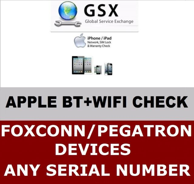 Fast Apple iPhone iPad WIFI+BLUETOOTH MAC ADDRESS by Serial/IMEI Check  Service
