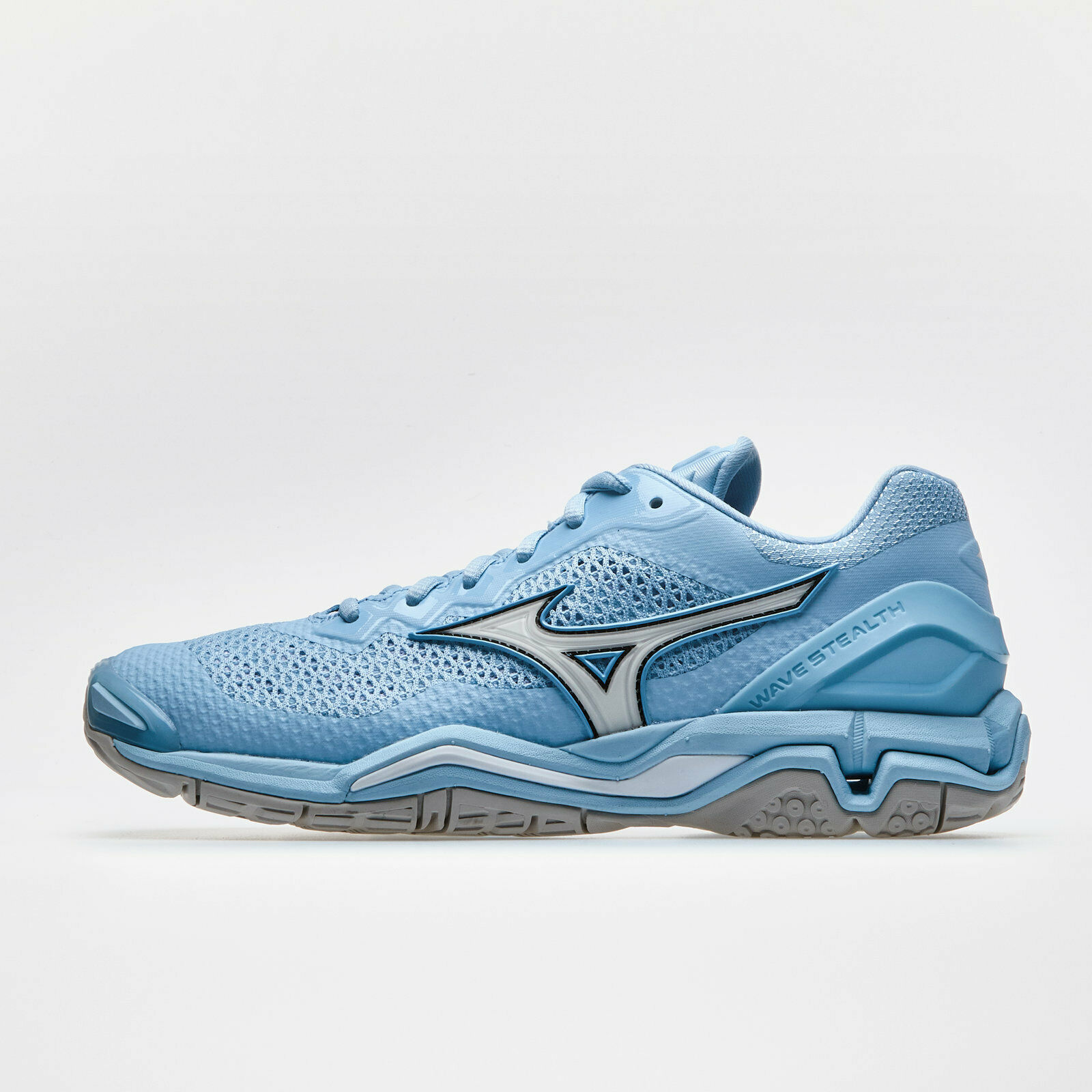 Mizuno Womens Wave Stealth V Netball Trainers Sports shoes bluee
