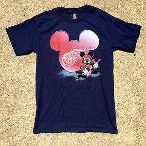 VTG-90s-Detroit-Red-Wings-Disney-Mickey-Mouse-T-Shirt-NHL-Hockey-Sz-S