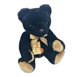 Hermann Original Black Teddy Bear Red Tag West Germany Sweet Teddys Vintage
