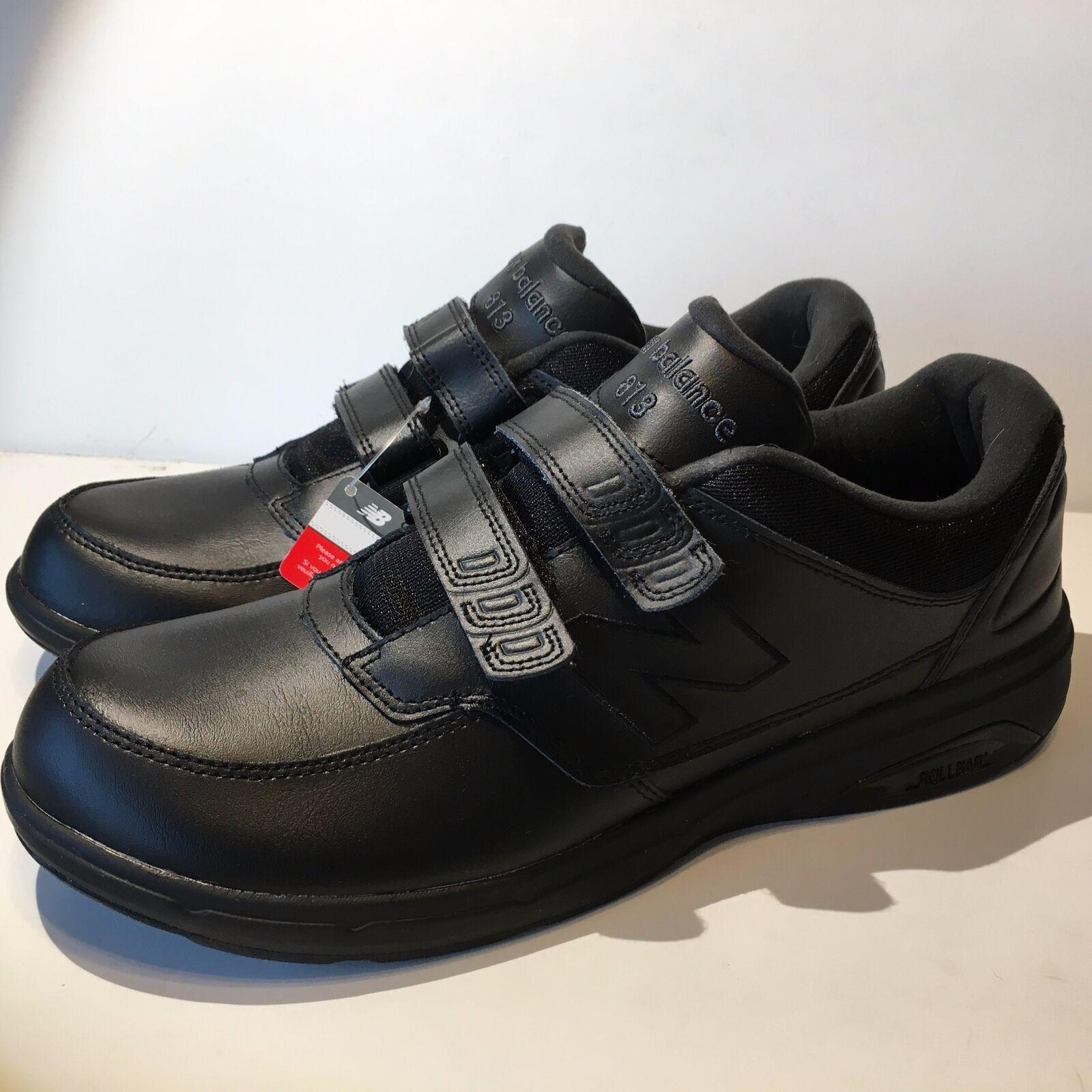 Para Hombre MW813HBK Caminar New Balance Zapato (1053) De Cuero Negro Tamaño 11.5M