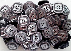 Large-34mm-54L-Soft-Smoke-Grey-Pearlescent-Polished-4-Hole-Buttons-Q245