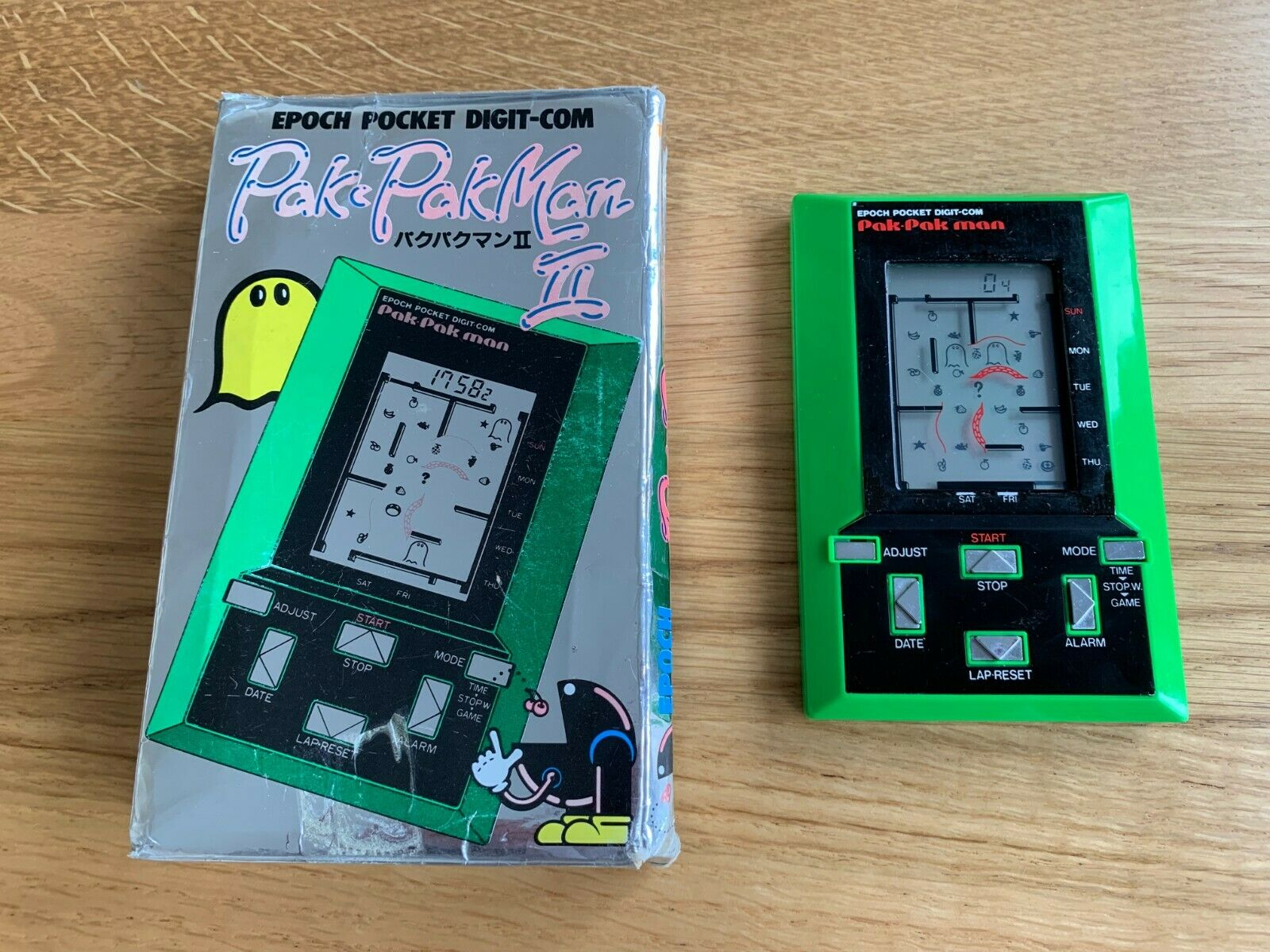 Raro en Caja época Pak Pakman 2 Vintage 1981 LCD portátil juego electrónico en GC.