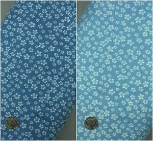 100%  Pure Cotton Denim  Floral Fabric Extra Wide - Sold per metre