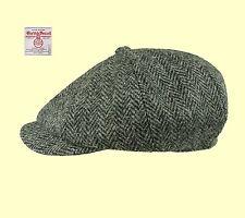 d02d9c2b840 Failsworth Carloway Harris Tweed Bakerboy Cap - Black white 58cm for ...