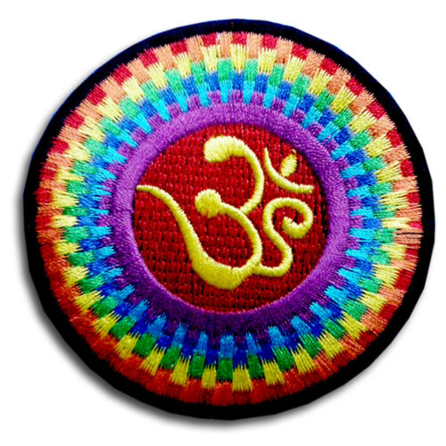 Aum Om Infinity Hindu Hinduism Yoga Indian trance Patch Embroidered Iron on #6