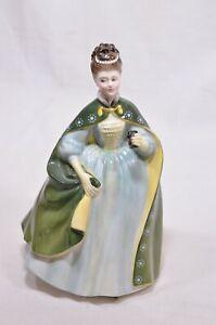 Royal-Doulton-Figure-Premiere-1967-Lady-in-Green-Cloak-HN2343