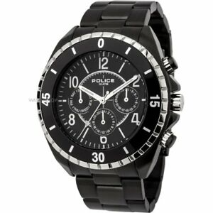 Details About Police Miami Black Dial Stainless Steel Bracelet Mens Watch 13918jsbs 02m