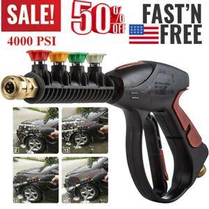 High-Pressure-4000PSI-Car-Power-Washer-Spray-Gun-Wand-Lance-Nozzle-Tips-Hose-Kit