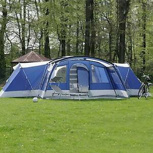 Image is loading skandika-Nimbus-12-Person-Man-XL-Group-Tent- & skandika Nimbus 12 Person/Man XL Group Tent 4 Sleeping Cabins 2 ...