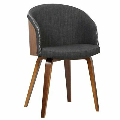 Armen Living Alpine Dining Chair in Charcoal 643507351611 ...