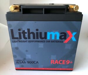 Lithiumax 900CCA RACE9+ LCD Lithium Car, Boat, Bike, Road & Race Battery
